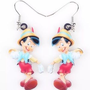 Pinnocchio Disney Acrylic Earrings